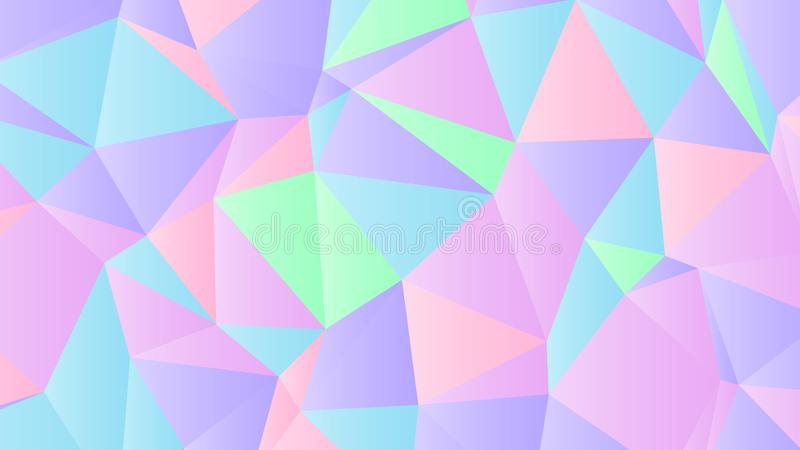 Pastel Bright Iridescent Low Poly Backdrop Design. Colorful Pastel Background for Your Business and Advertising Graphic Design Project. Trendy Creative Desktop vector illustration