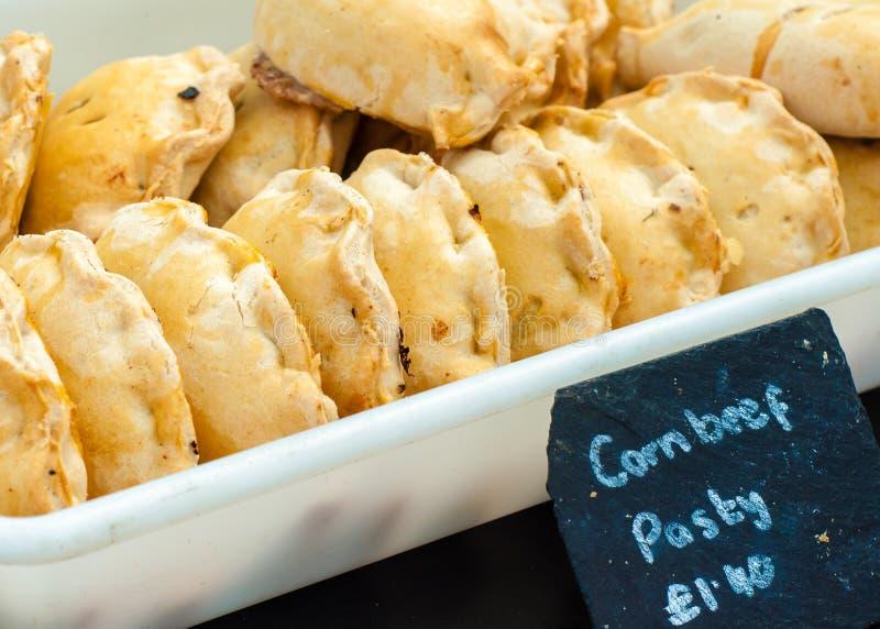 Pastel británico tradicional de la carne de vaca foto de archivo