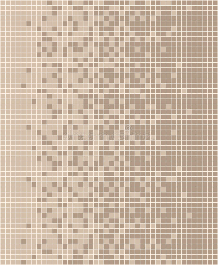 Pastel brown mosaic vector illustration