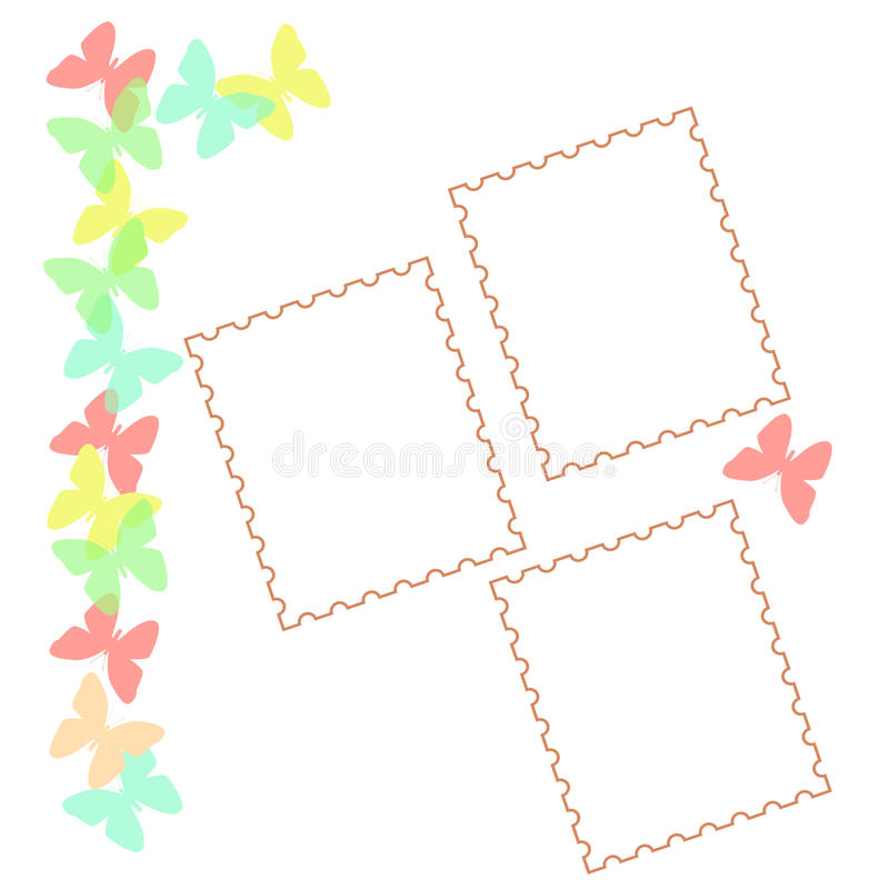 Download Pastel Butterfly Scrapbook Royalty Free Stock Image - Image: 10222666
