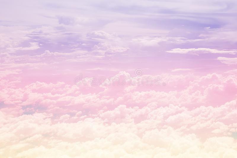 Pastel cloudy sky stock images