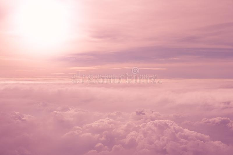 Pastel cloudy sky royalty free stock image