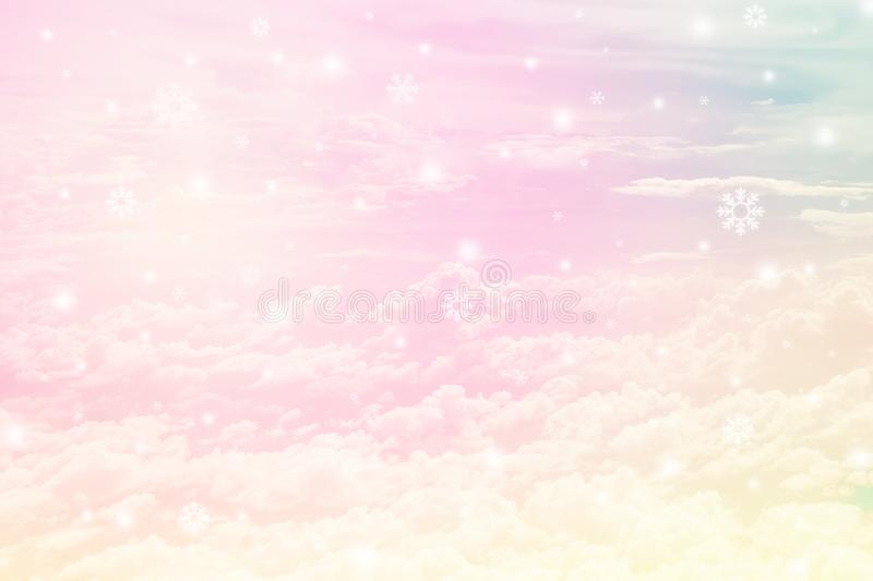 Pastel cloudy sky royalty free stock photography