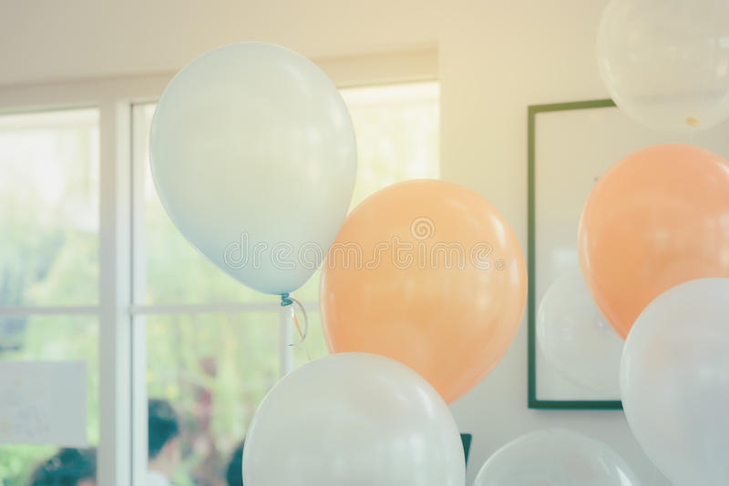 Pastel color balloons. For decoration party stock photography