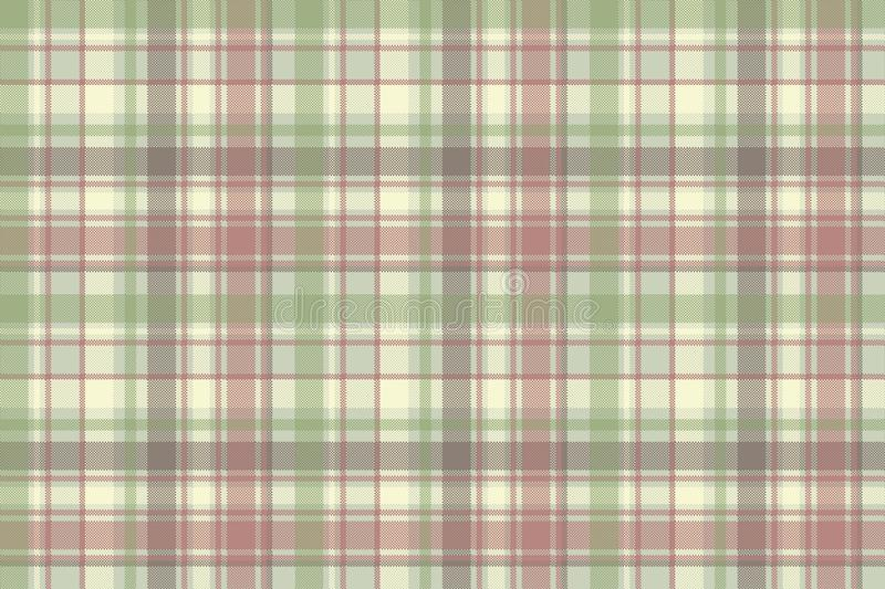 Pastel color check plaid fabric seamless pattern royalty free illustration