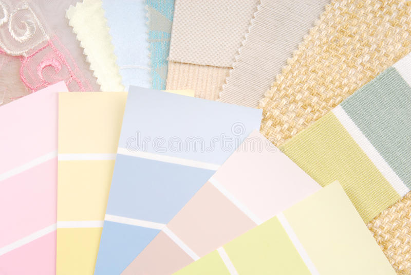 Pastel color design selection. For interior stock photos