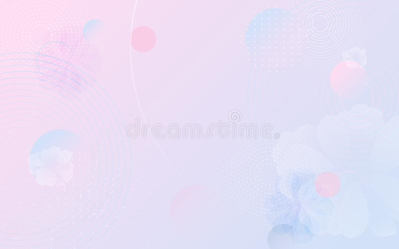 Pastel color fluid composition and minimal geometric background. abstract flowers. Vector illustration vector illustration