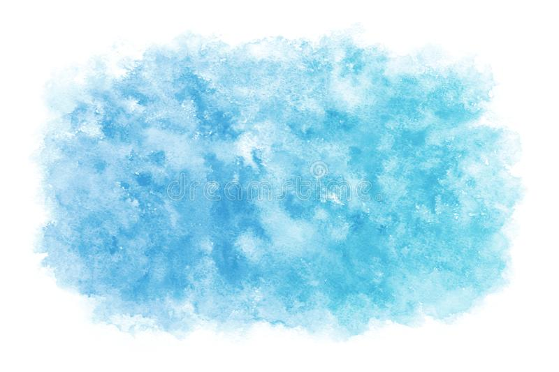 Pastel color summer blue sky abstract or natural watercolor paint background royalty free stock photo