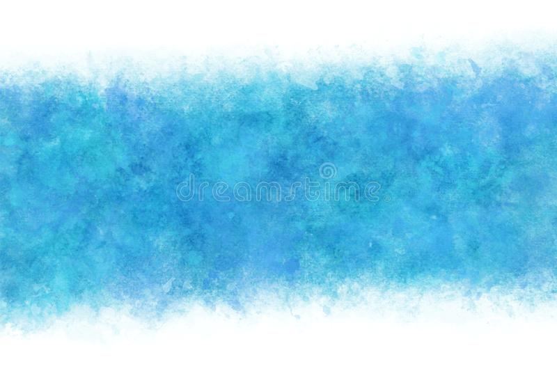 Pastel color summer blue water abstract or cool natural watercolor hand paint background, vector illustration. Pastel color summer blue water abstract or cool vector illustration
