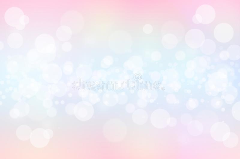 Pastel color tone bokeh abstract background stock illustration