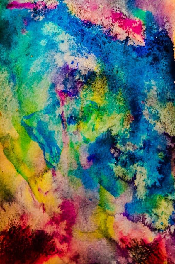 Pastel Color Watercolor Salz Psychedelische Kunst vektor abbildung