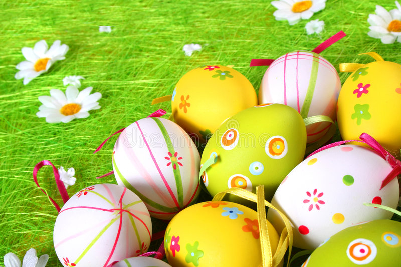 Pastel and colored Easter eggs vector illustration