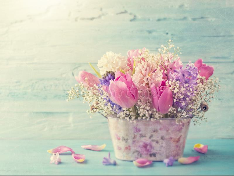 Download Pastel colored flowers stock photo. Image of romantic - 108907936