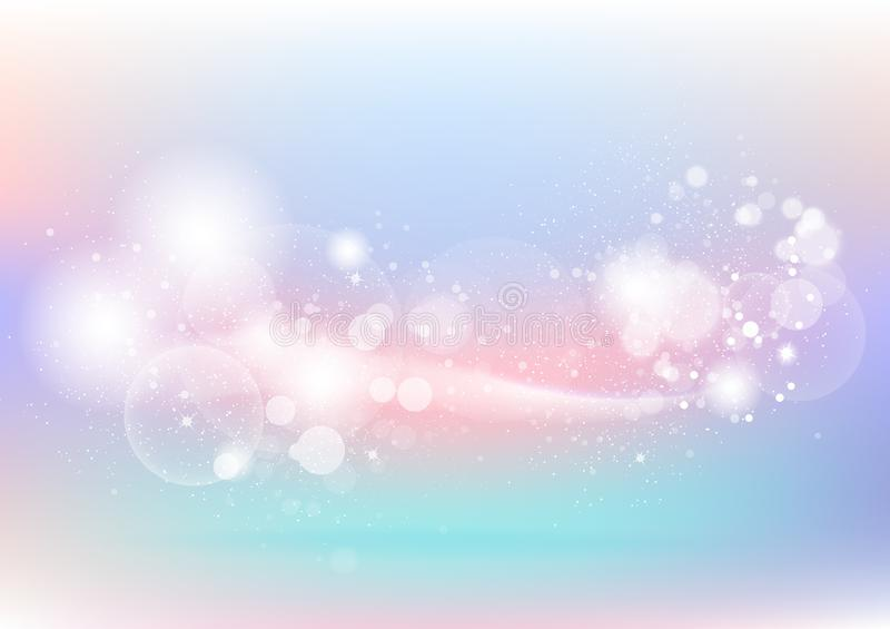 Pastel, colorful abstract background, bubbles, dust and particle royalty free illustration