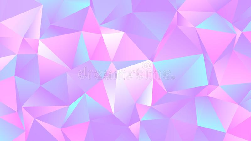Pastel Colorful Crystal Low Poly Backdrop Design. Colorful Pastel Background for Your Business and Advertising Graphic Design Project. Trendy Creative Desktop vector illustration