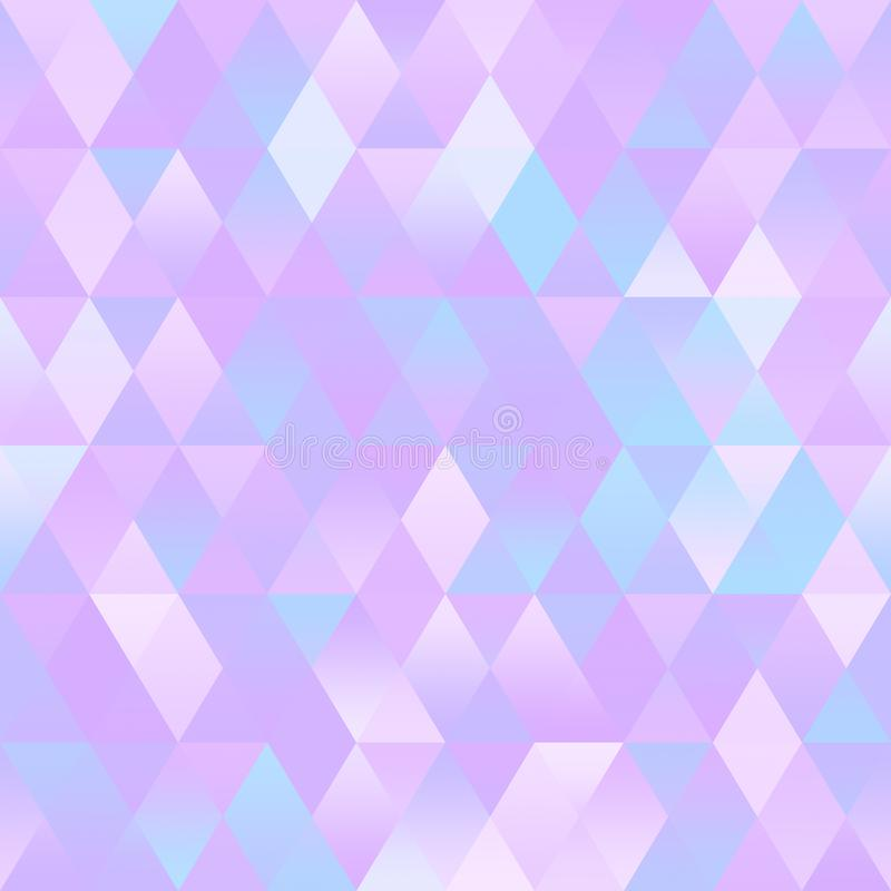 Pastel Colorful Geometric Background Polygonal Seamless Pattern Abstract Triangular Mosaic Low Poly royalty free illustration
