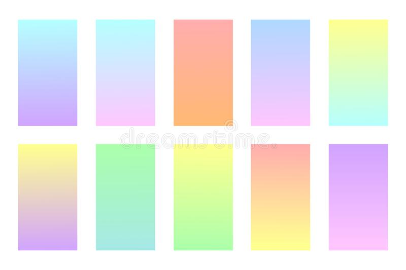 Pastel colors backgrounds set. royalty free illustration