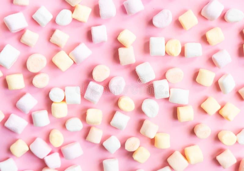 Pastel colors mini marshmallows stock images