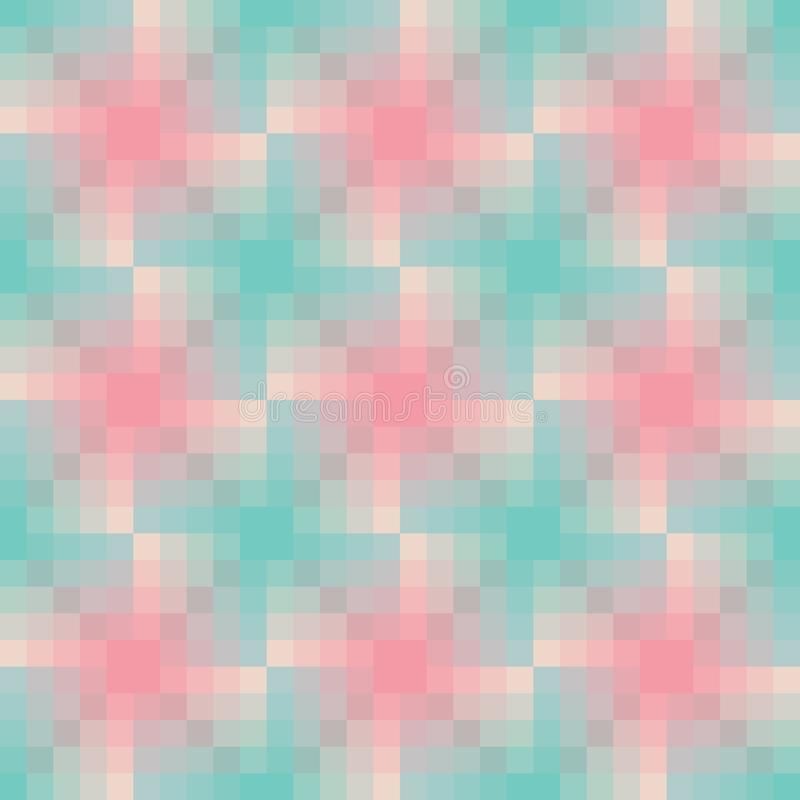 Pastel colors mozaic seamless pattern royalty free stock photography