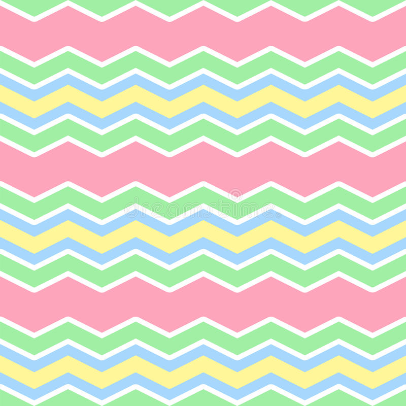 Pastel colors zig zag seamless pattern royalty free illustration