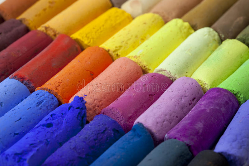 Pastel Crayons Abstract Stock Images