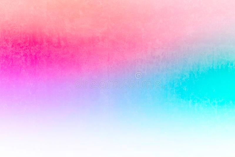 Pastel cyan grunge stain texture with gradient colors shade vintage filter retro light leak style. Grunge stain texture with gradient colors shade vintage filter stock photo