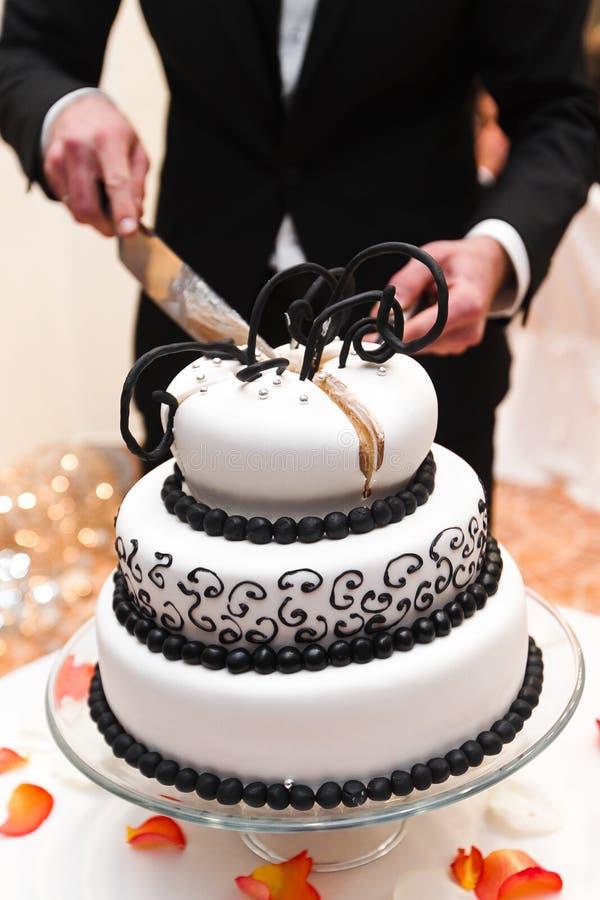 Pastel de bodas fotos de archivo