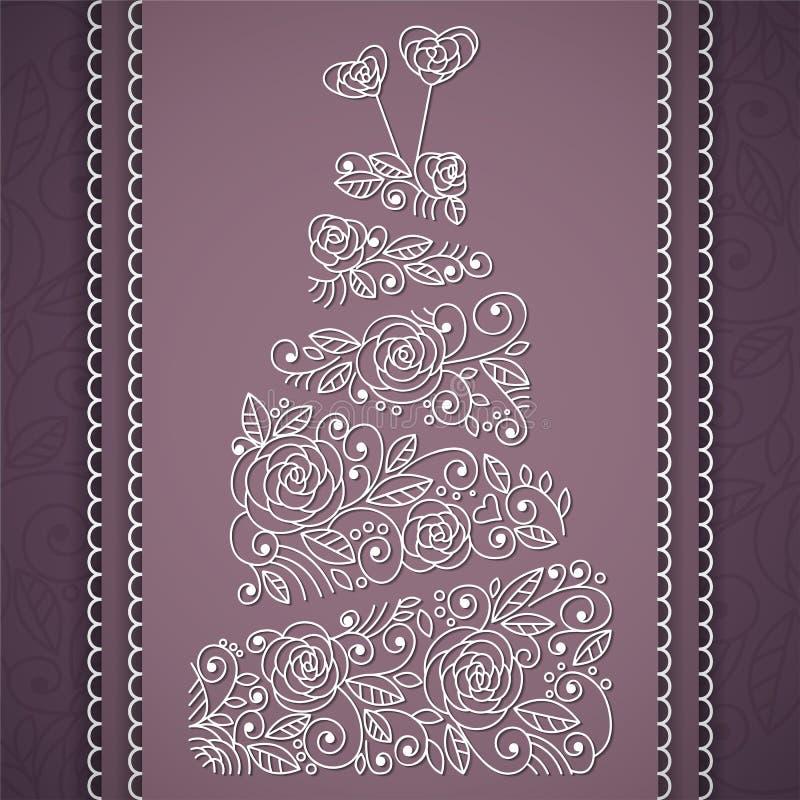 Pastel de bodas del vector stock de ilustración
