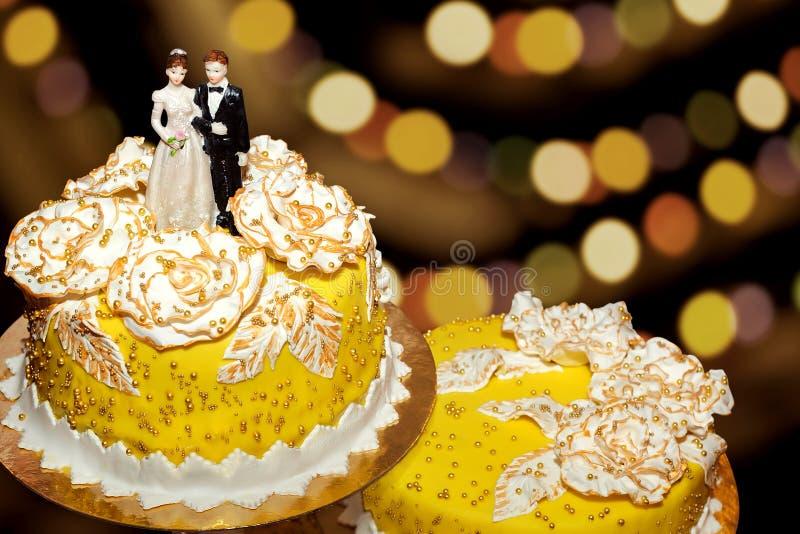 Pastel de bodas delicioso foto de archivo libre de regalías