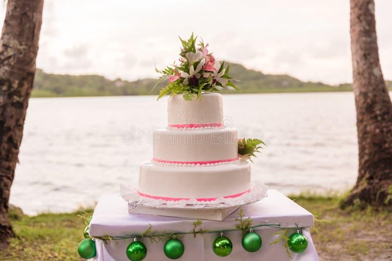 Pastel de bodas en Asia Fondo de la naturaleza Agua del océano fotografía de archivo