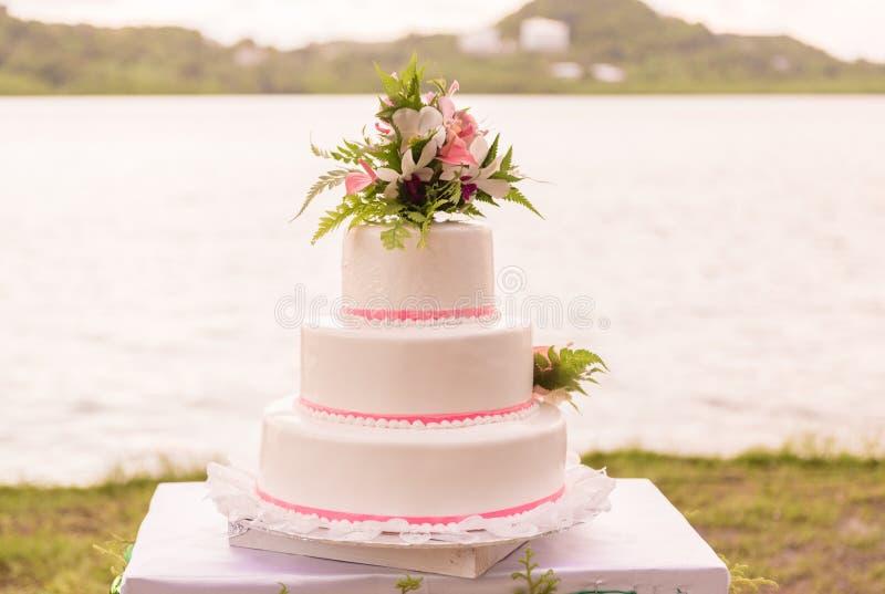 Pastel de bodas en Asia Fondo de la naturaleza Agua del océano imágenes de archivo libres de regalías
