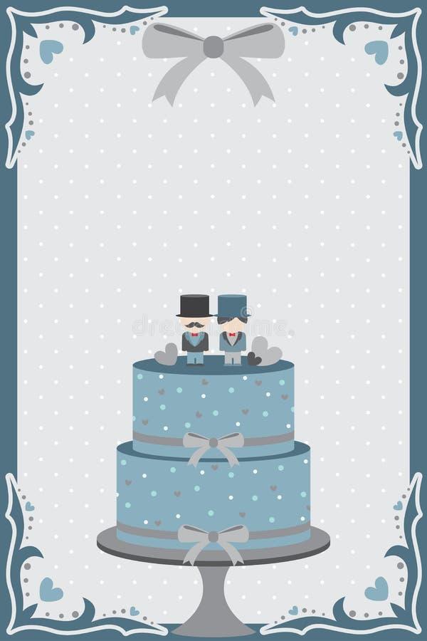 Pastel de bodas gay stock de ilustración