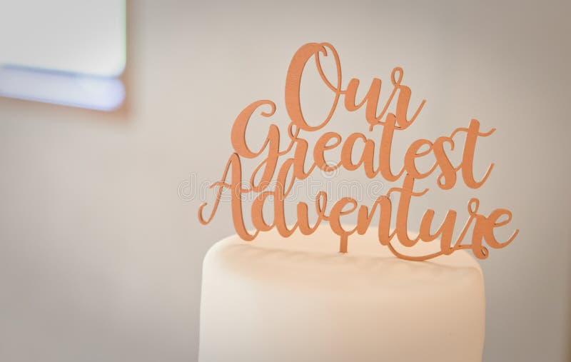 Pastel de bodas y decoración imágenes de archivo libres de regalías