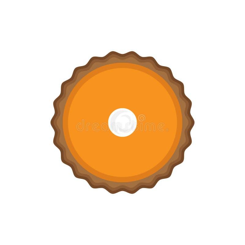 Pastel de calabaza con la visión superior poner crema azotada libre illustration
