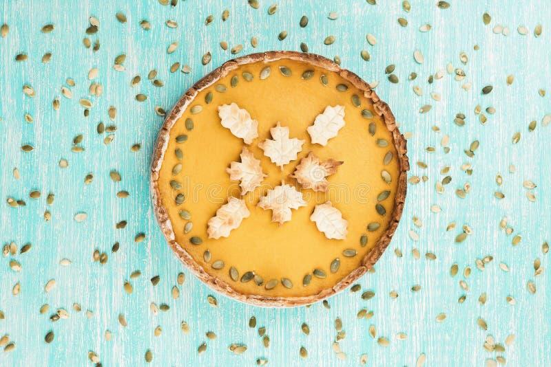 Pastel de calabaza picante hecho en casa para la acción de gracias o Halloween foto de archivo