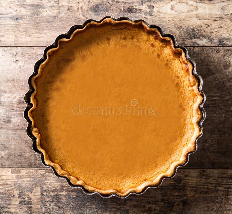 Pastel de calabaza tradicional para la acción de gracias imagen de archivo libre de regalías