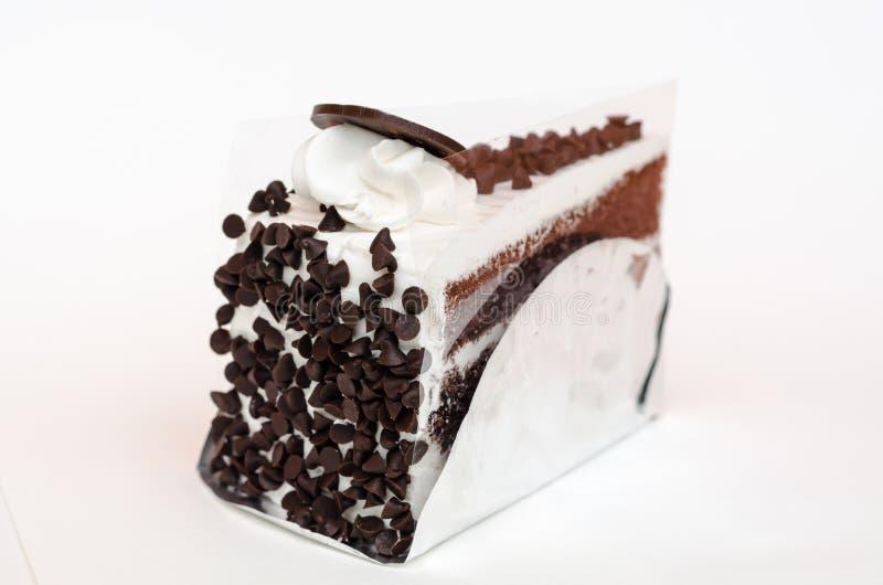 Pastel de capas del microprocesador de chocolate de la barra de leche fotografía de archivo