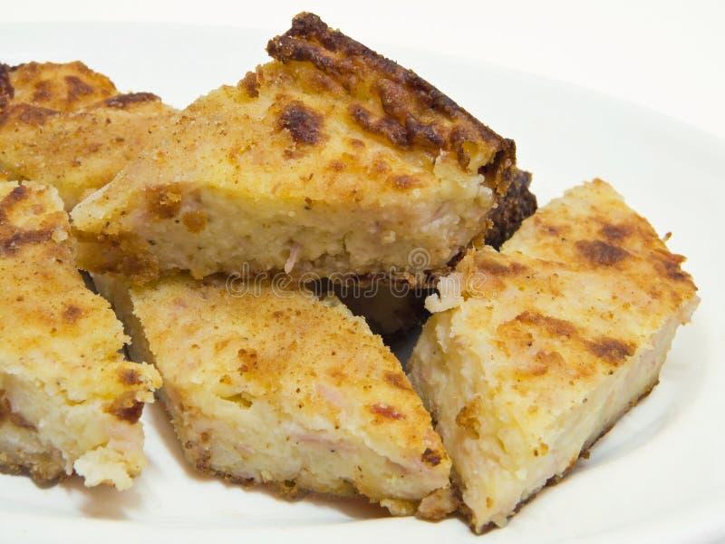 Pastel de las patatas. foto de archivo