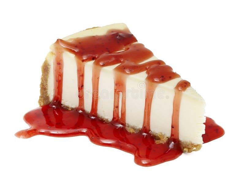 Pastel de queso con la trayectoria de recortes de la pluma incluida imagen de archivo libre de regalías