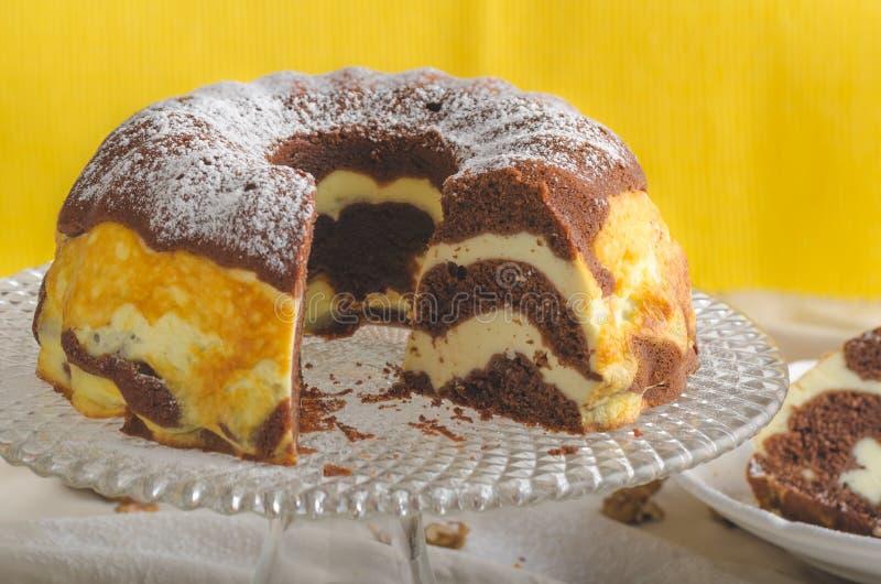 Pastel de queso de la cabaña imagen de archivo libre de regalías