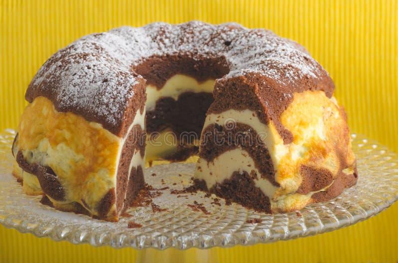 Pastel de queso de la cabaña fotografía de archivo libre de regalías