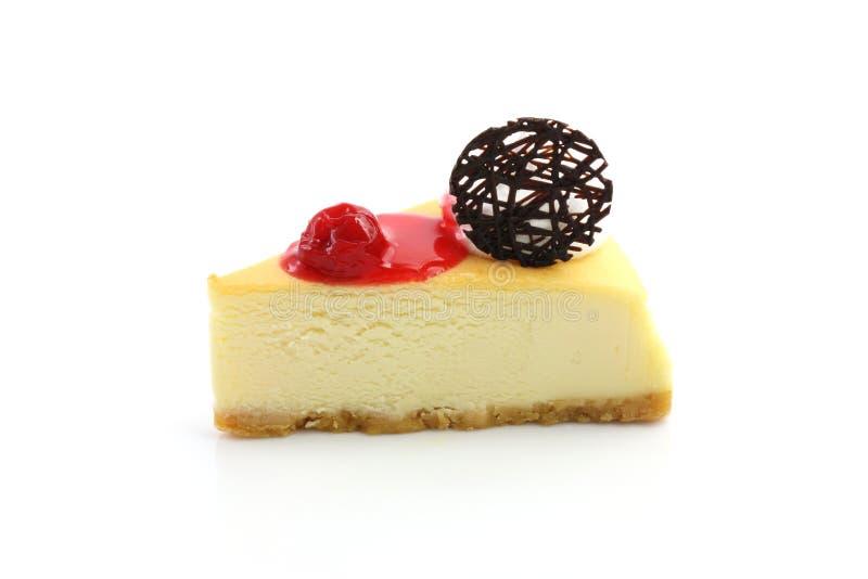 Pastel de queso de la cereza foto de archivo libre de regalías