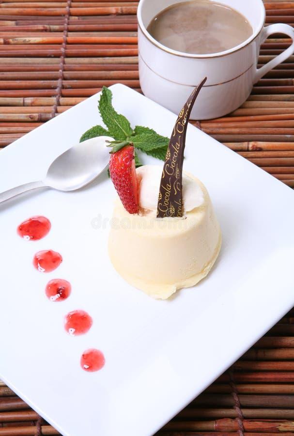 Pastel de queso de la fresa foto de archivo libre de regalías