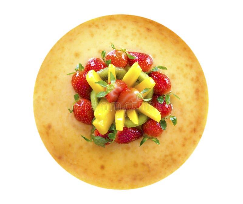 Pastel de queso de la fruta de pasión imágenes de archivo libres de regalías