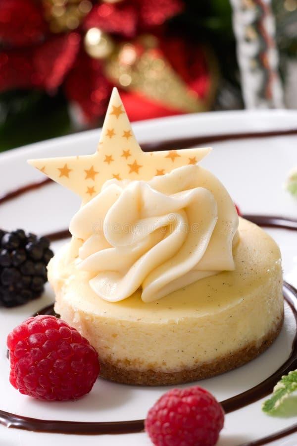 Pastel de queso de la haba de vainilla imagen de archivo libre de regalías