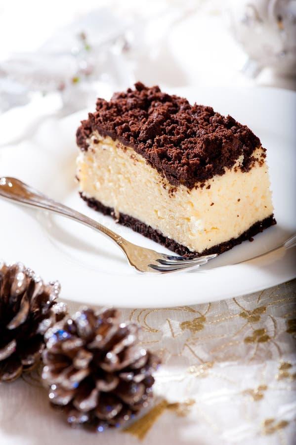Pastel de queso de la Navidad fotos de archivo libres de regalías