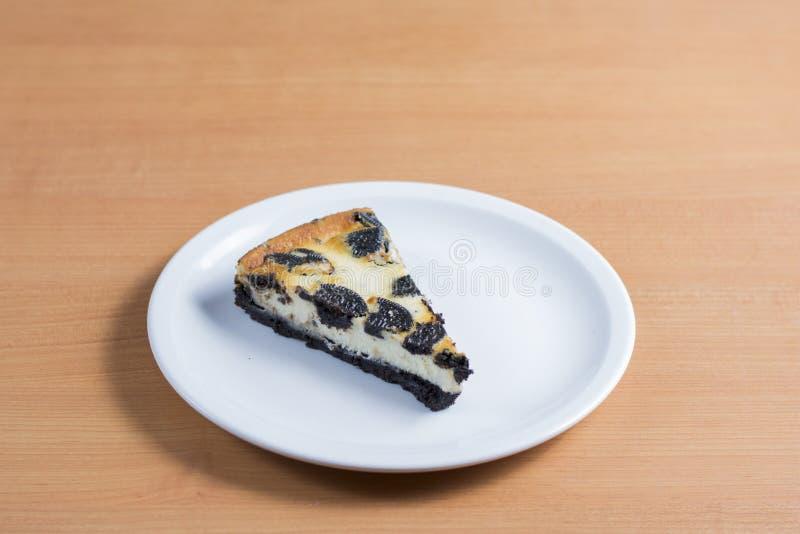 Pastel de queso de Oreo imagen de archivo