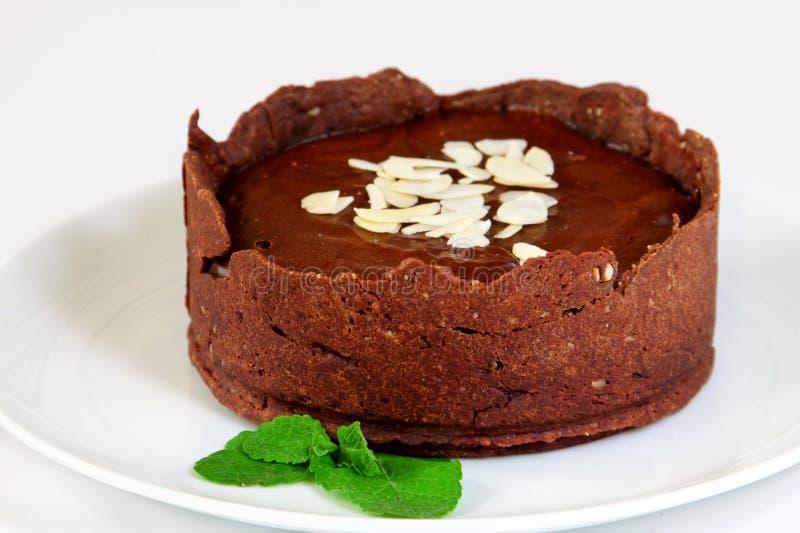 Pastel de queso del chocolate imagen de archivo libre de regalías