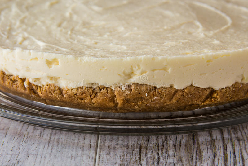 Pastel de queso hecho en casa de Nueva York foto de archivo libre de regalías