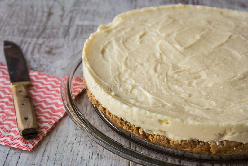 Pastel de queso hecho en casa de Nueva York foto de archivo